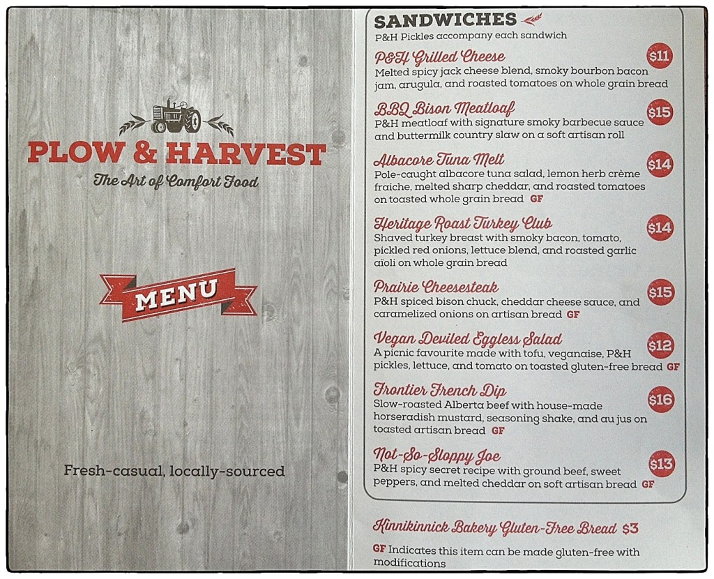 P&H Menu items