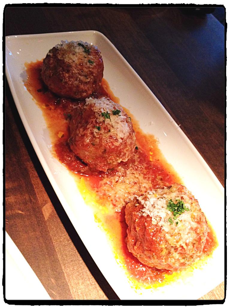 Kobe style meatball trio
