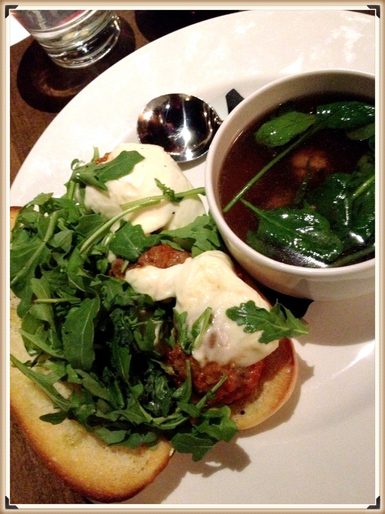 Meatball Sandwich with Italian Wedding Soup $15