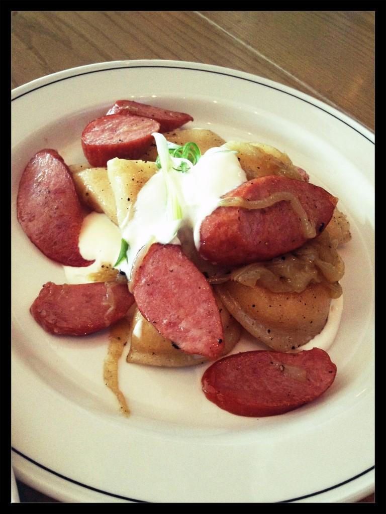 Perogies and Mundare Sausage Appetizer $13