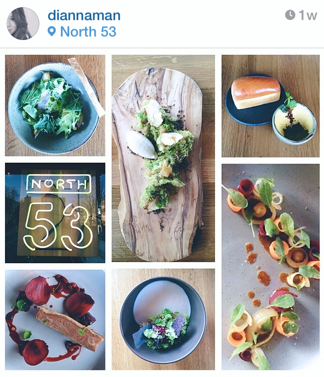 Photo Credit: Collage of North 53 food by Diannaman on Instagram