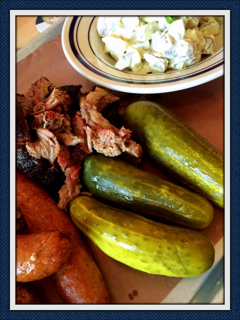 Pickles and potato salad