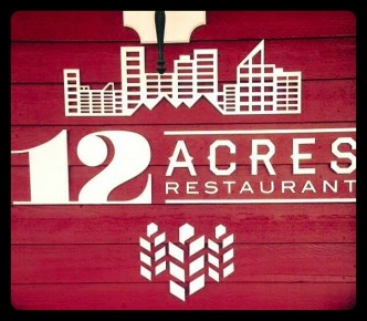 12 acres sign