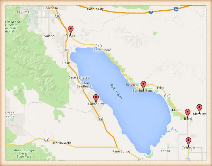 Map Road Trip Palm Springs