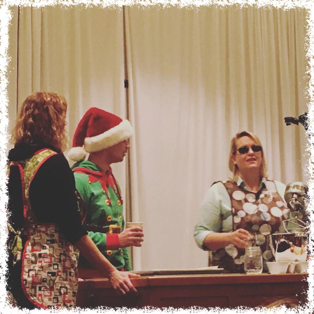 Julie Van Rosendaal with Micah Dew and Sue Duncan