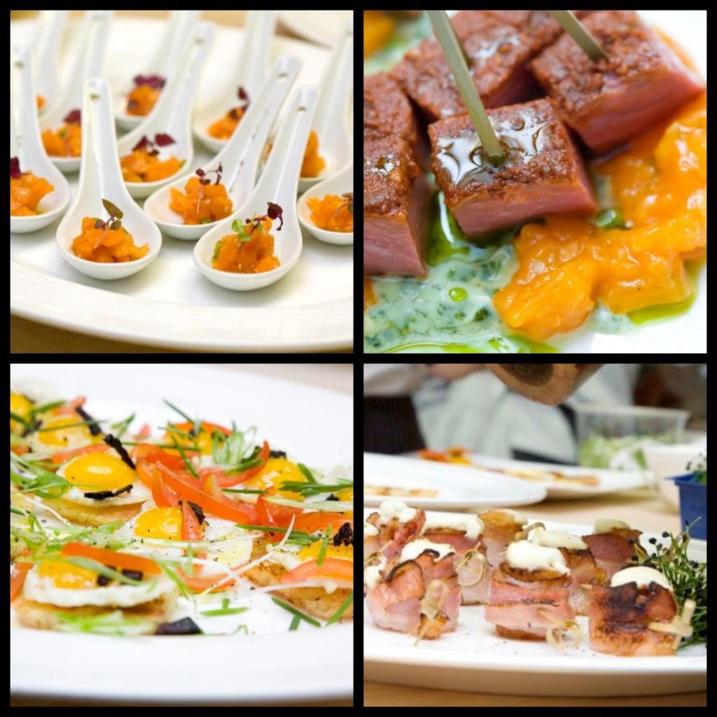 Dishes at James Beard event. Photos courtesy of Mira Zaki