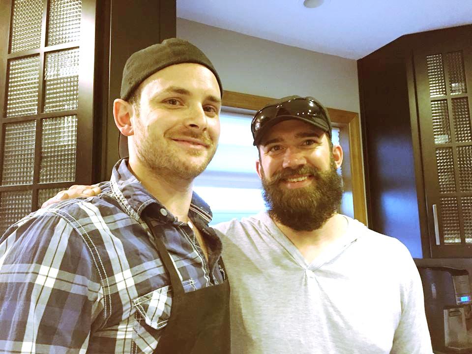 Chefs Alexei Boldireff (L) and Cory Rakowski (R)